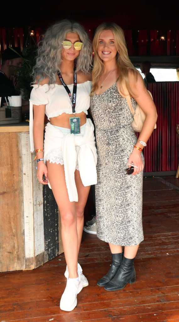 Alannah Beirne and Megan Virgo pictured in the renowned Casa Bacardi on Day Two of Electric Picnic 2018. Pic: Robbie Reynolds