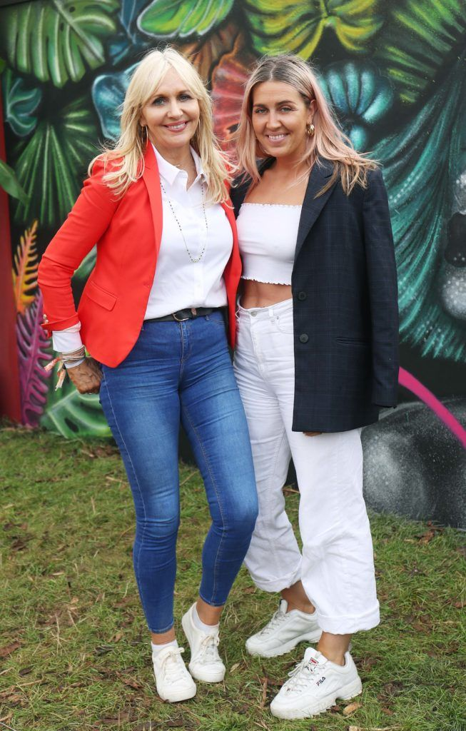 Miriam O'Callaghan and Georgia McGurk pictured in the renowned Casa Bacardi on Day Two of Electric Picnic 2018. Pic: Robbie Reynolds