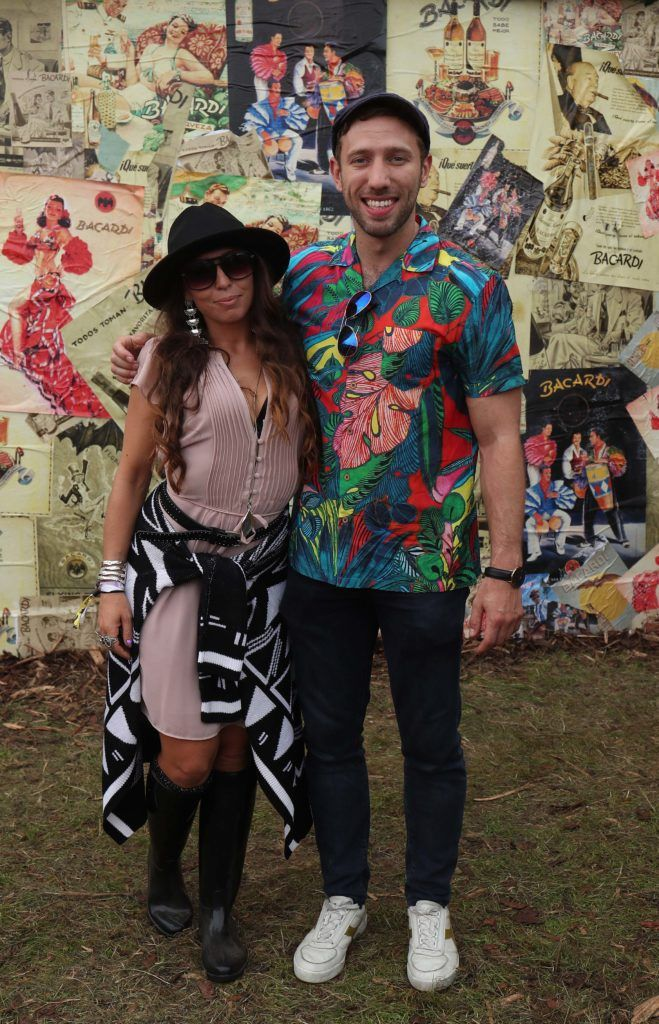 Claudia Cascella and Conor McGrath pictured in the renowned Casa Bacardi on Day Two of Electric Picnic 2018. Pic: Robbie Reynolds