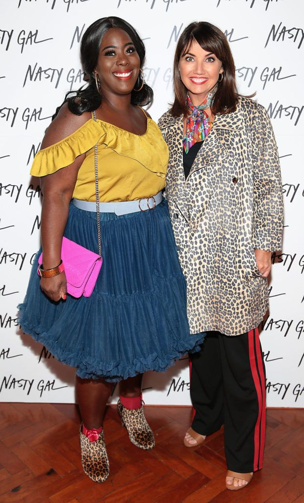 Nadine Reid and Carol Kane at The NastyGal.com Autumn Winter Showcase at Drury Buildings Dublin Picture: Brian McEvoy