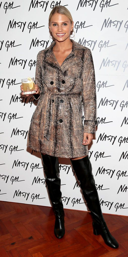 Kate Valk at The NastyGal.com Autumn Winter Showcase at Drury Buildings Dublin Picture: Brian McEvoy