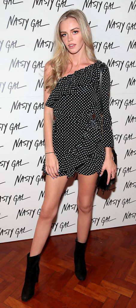 Robyn Byrne at The NastyGal.com Autumn Winter Showcase at Drury Buildings Dublin Picture: Brian McEvoy