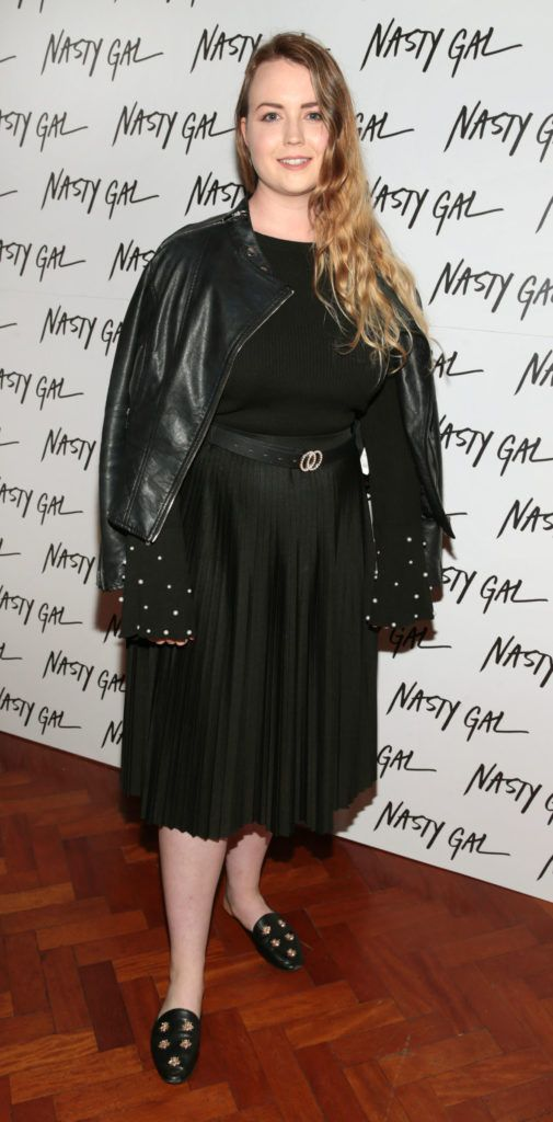 Niamh Campbell at The NastyGal.com Autumn Winter Showcase at Drury Buildings Dublin Picture: Brian McEvoy