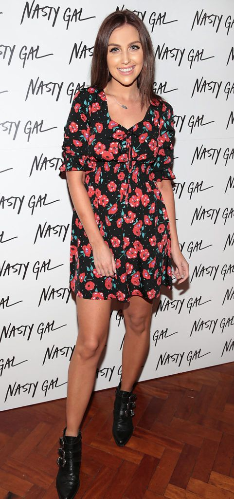 Tara O Farrell at The NastyGal.com Autumn Winter Showcase at Drury Buildings Dublin Picture: Brian McEvoy
