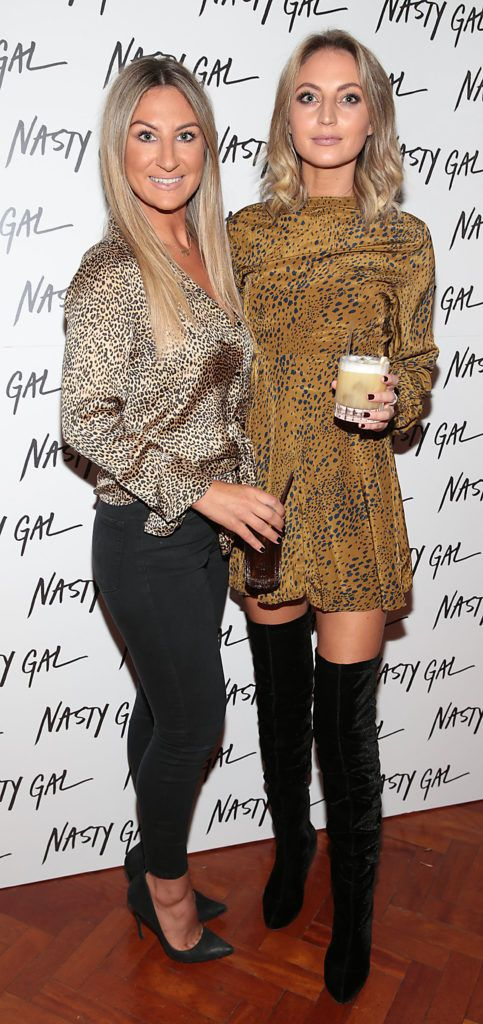 Sarah Gaynor and Anna Heffernan at The NastyGal.com Autumn Winter Showcase at Drury Buildings Dublin Picture: Brian McEvoy