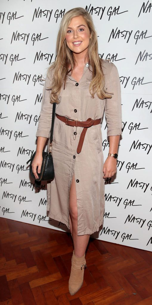 Aimee Fitzpatrick at The NastyGal.com Autumn Winter Showcase at Drury Buildings Dublin Picture: Brian McEvoy