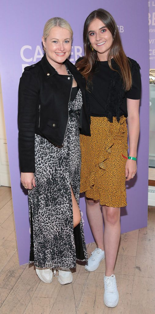 Lorna Weightman and Olivia Keaney pictured at the launch of Carter Beauty Cosmetics at the Morrison Hotel Dublin. Picture: Brian McEvoy