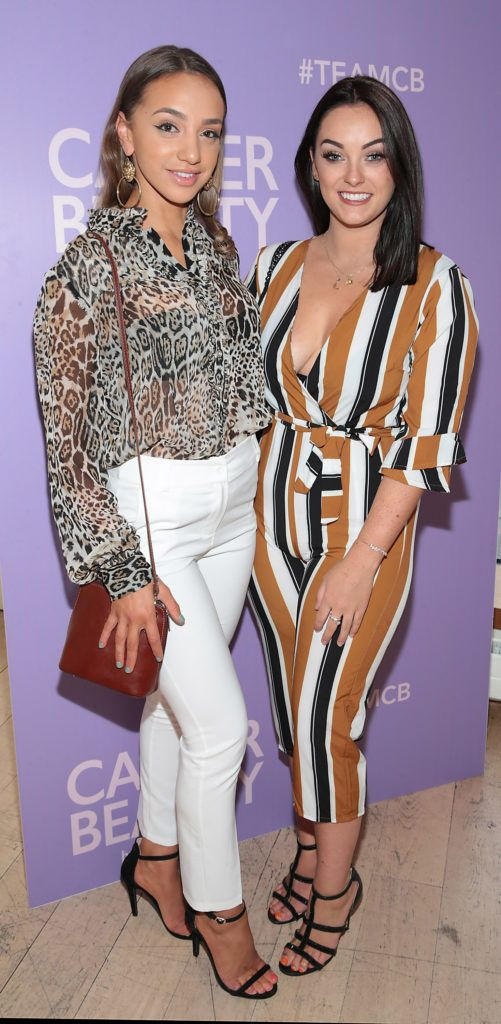 Hannah Nawaran and Michelle Butler pictured at the launch of Carter Beauty Cosmetics at the Morrison Hotel Dublin. Picture: Brian McEvoy