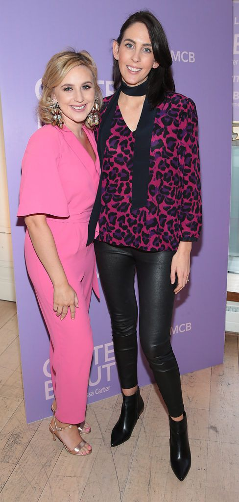 Annie Brosnan and Niamh O Neill pictured at the launch of Carter Beauty Cosmetics at the Morrison Hotel Dublin. Picture: Brian McEvoy