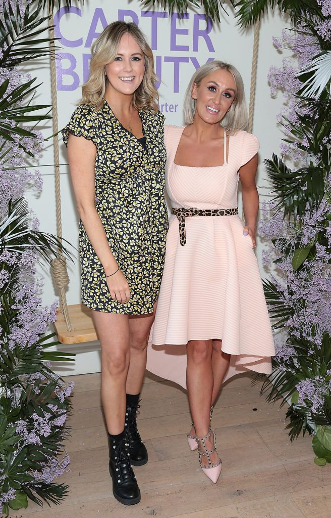 Cassie Stokes and Marissa Carter pictured at the launch of Carter Beauty Cosmetics at the Morrison Hotel Dublin. Picture: Brian McEvoy