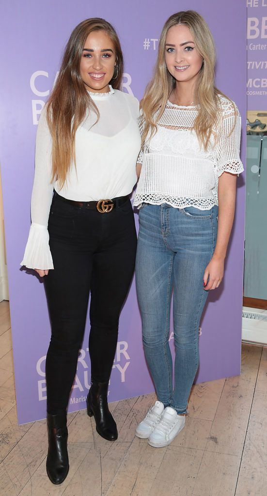 Ali Rothwell and Aoife McCormack pictured at the launch of Carter Beauty Cosmetics at the Morrison Hotel Dublin. Picture: Brian McEvoy