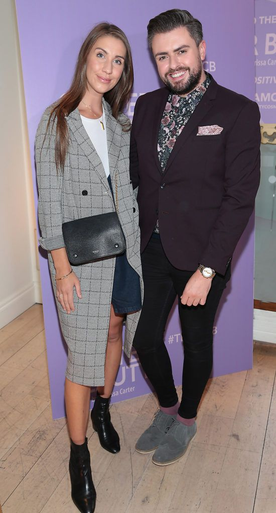 Clementine McNiece and James Patrice Butler pictured at the launch of Carter Beauty Cosmetics at the Morrison Hotel Dublin. Picture: Brian McEvoy