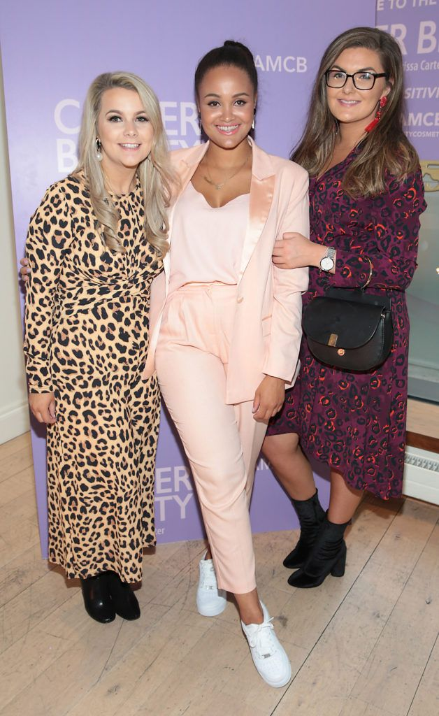 Fiona Cullen,Claudia Gocul and Chloe O Brien pictured at the launch of Carter Beauty Cosmetics at the Morrison Hotel Dublin. Picture: Brian McEvoy