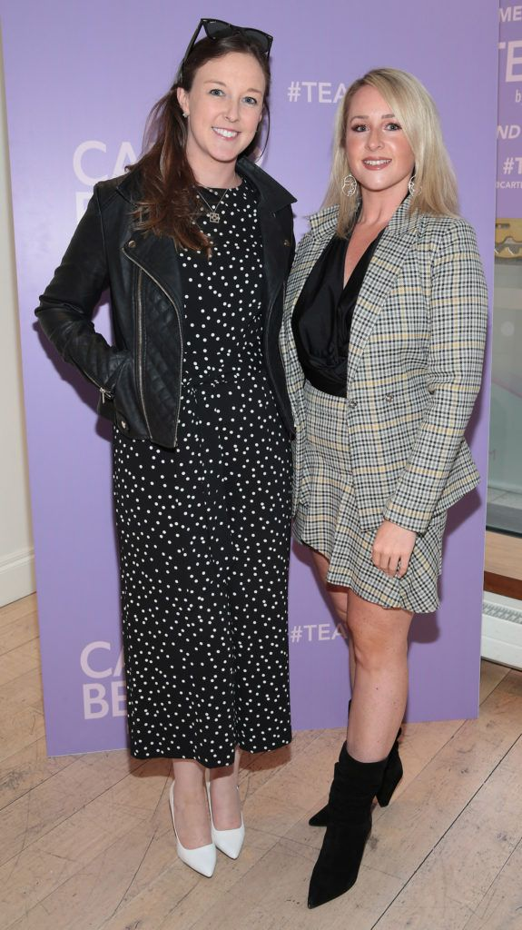 Jilly McDonough and Tara O Brien pictured at the launch of Carter Beauty Cosmetics at the Morrison Hotel Dublin. Picture: Brian McEvoy