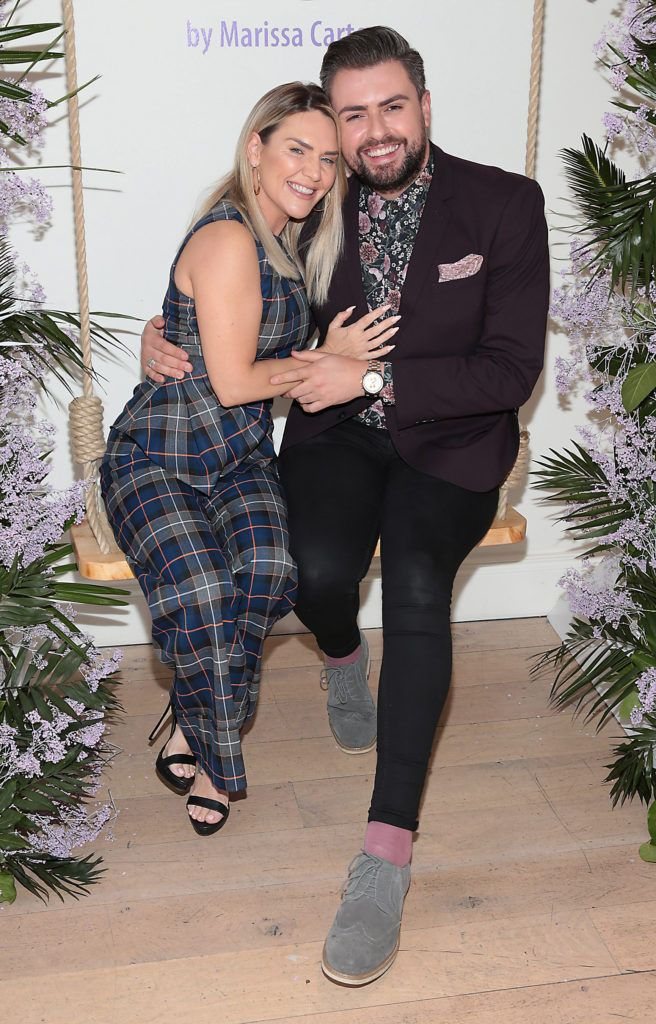 Erin McGregor and James Patrice Butler  pictured at the launch of Carter Beauty Cosmetics at the Morrison Hotel Dublin. Picture: Brian McEvoy