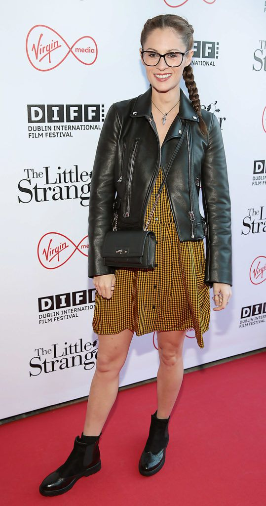 Madeline Mulquenn at the European premiere of The Little Stranger, presented in association with Pathe and the Virgin Media Dublin International Film Festival at the Lighthouse Cinema, Dublin. Photo: Brian McEvoy