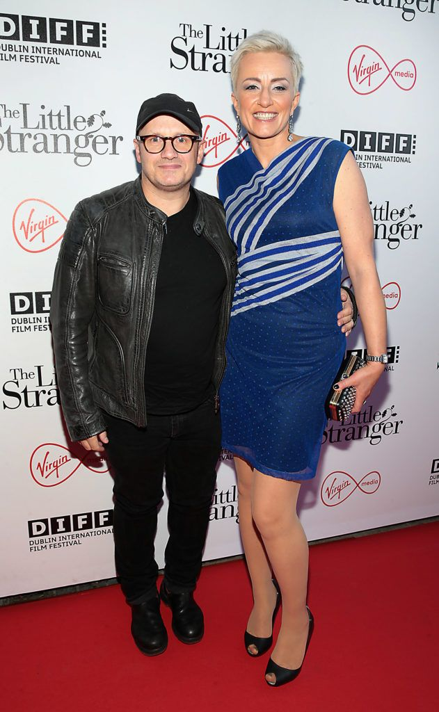 Director Lenny Abrahamson with wife Monika at the European premiere of The Little Stranger, presented in association with Pathe and the Virgin Media Dublin International Film Festival at the Lighthouse Cinema, Dublin. Photo: Brian McEvoy