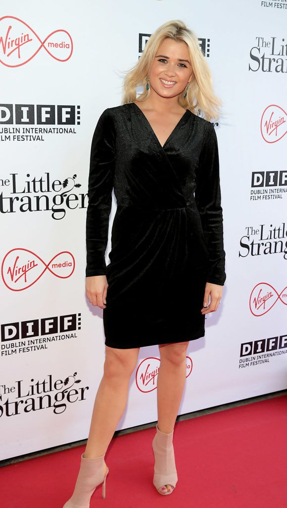 Lena Marie Fitzgerald at the European premiere of The Little Stranger, presented in association with Pathe and the Virgin Media Dublin International Film Festival at the Lighthouse Cinema, Dublin. Photo: Brian McEvoy