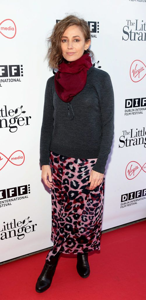 Orla Brady at the European premiere of The Little Stranger, presented in association with Pathe and the Virgin Media Dublin International Film Festival at the Lighthouse Cinema, Dublin. Photo: Brian McEvoy