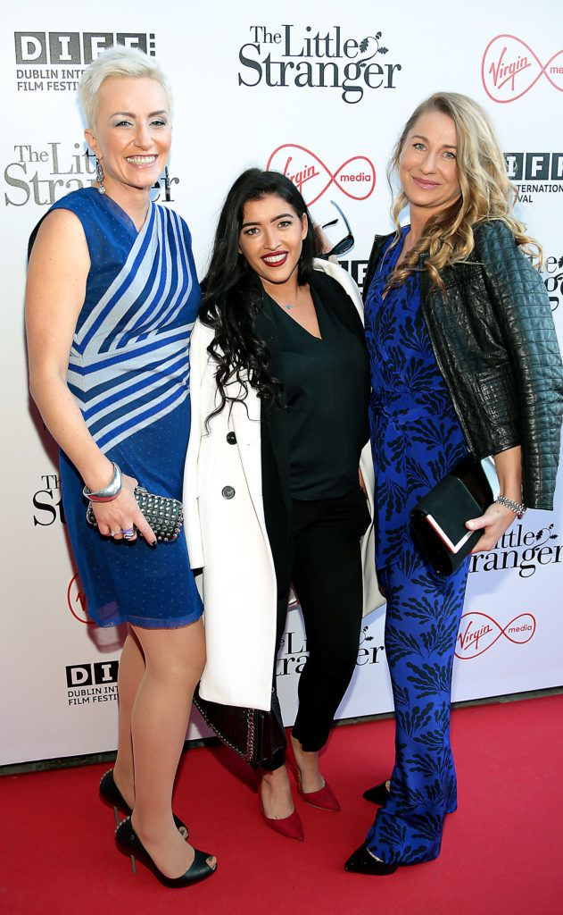 Monika Abrahamson,Cira Rose Dunne and Katarzyna Pritz at the European premiere of The Little Stranger, presented in association with Pathe and the Virgin Media Dublin International Film Festival at the Lighthouse Cinema, Dublin. Photo: Brian McEvoy
