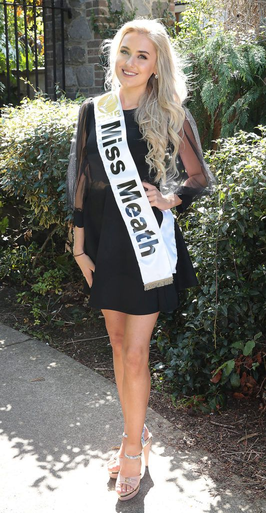 Miss Meath Chelsea O Toole pictured at a special preview of the Miss Ireland 2018 finalists at the Bonnington Hotel, Dublin. Photo: Brian McEvoy