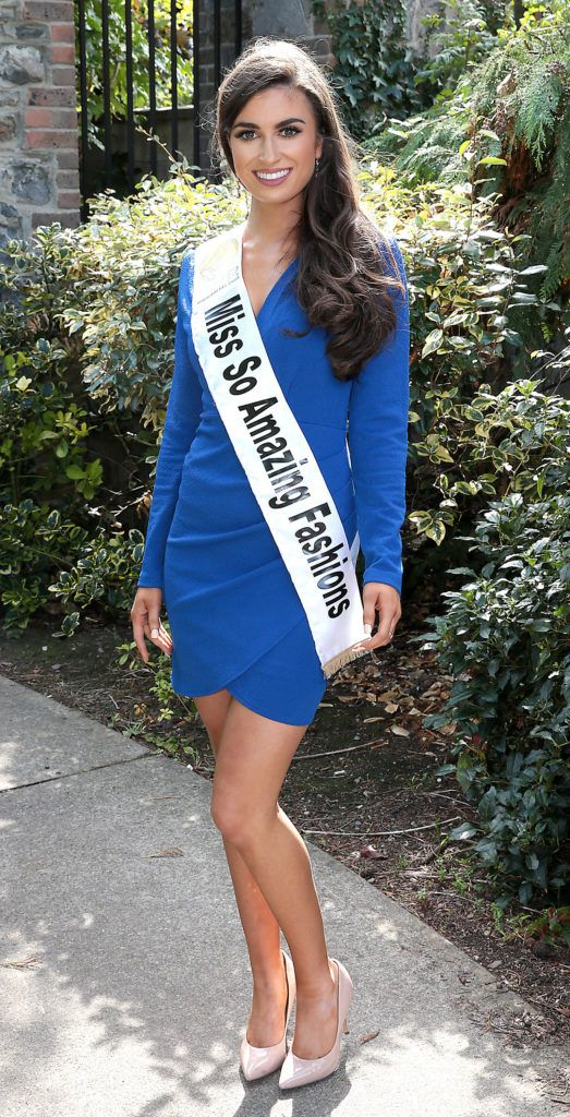 Miss So Amazing Fashions Aoife O Sullivan pictured at a special preview of the Miss Ireland 2018 finalists at the Bonnington Hotel, Dublin. Photo: Brian McEvoy
