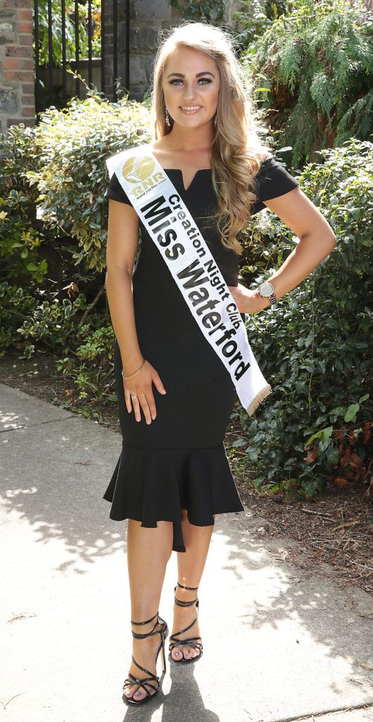 Miss Waterford Clara Mannion pictured at a special preview of the Miss Ireland 2018 finalists at the Bonnington Hotel, Dublin. Photo: Brian McEvoy