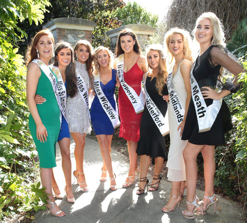Finalists pictured at a special preview of the Miss Ireland 2018 finalists at the Bonnington Hotel, Dublin. Photo: Brian McEvoy