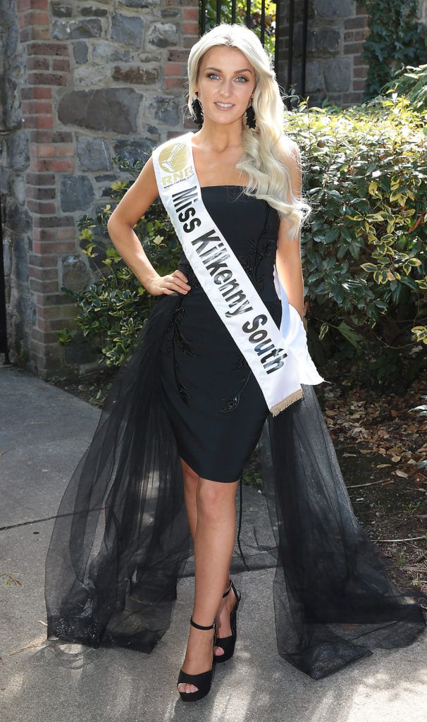 Miss Killkenny South Ailíse Kirwan pictured at a special preview of the Miss Ireland 2018 finalists at the Bonnington Hotel, Dublin. Photo: Brian McEvoy