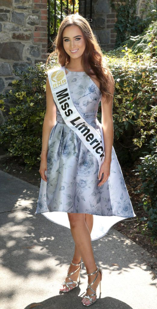 Miss Limerick Beibhinn Haren pictured at a special preview of the Miss Ireland 2018 finalists at the Bonnington Hotel, Dublin. Photo: Brian McEvoy