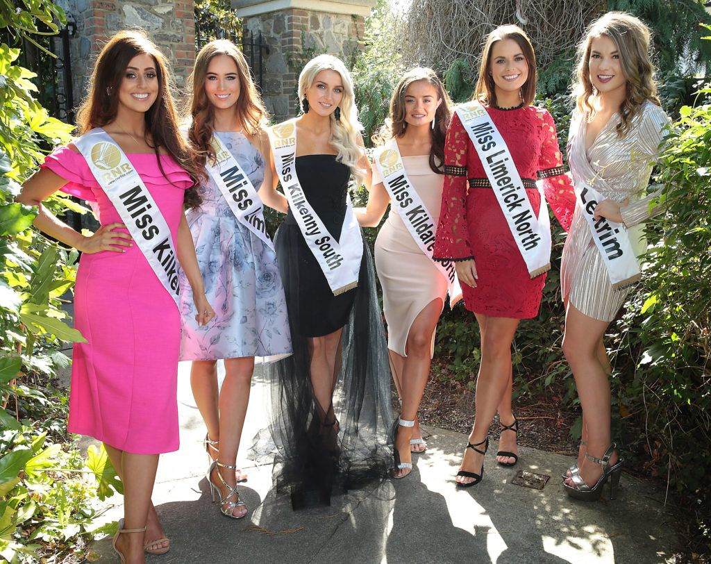 Finalists from across Ireland pictured at a special preview of the Miss Ireland 2018 finalists at the Bonnington Hotel, Dublin. Photo: Brian McEvoy