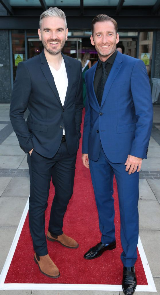 Cillian O Sullivan and Paul Byrom at the grand final of Miss Ireland 2018 in association with RNR Fits at the Helix Theatre, Dublin. Photo by Brian McEvoy