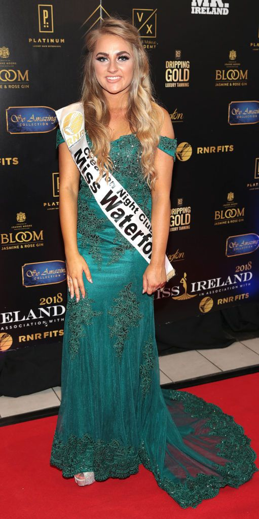 Clara Mannion at the grand final of Miss Ireland 2018 in association with RNR Fits at the Helix Theatre, Dublin. Photo by Brian McEvoy