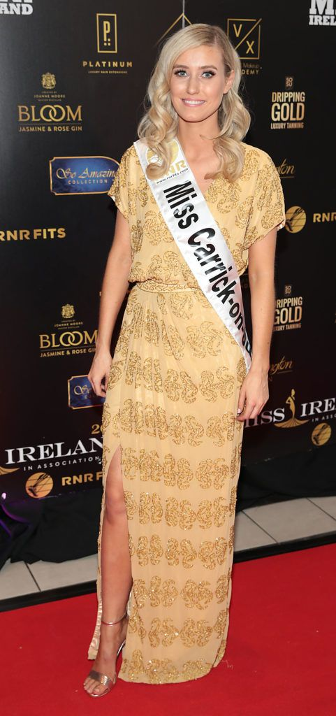 Sophie Devlin at the grand final of Miss Ireland 2018 in association with RNR Fits at the Helix Theatre, Dublin. Photo by Brian McEvoy