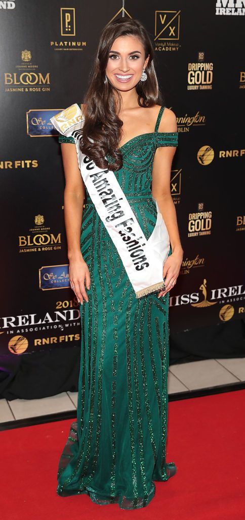 Aoife O Sullivan at the grand final of Miss Ireland 2018 in association with RNR Fits at the Helix Theatre, Dublin. Photo by Brian McEvoy