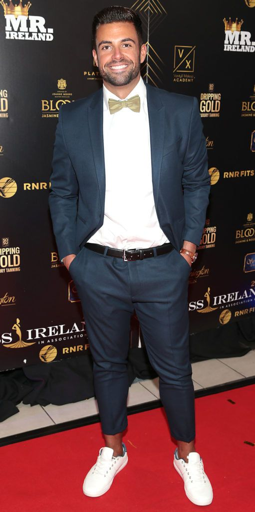 Karl Bowe at the grand final of Miss Ireland 2018 in association with RNR Fits at the Helix Theatre, Dublin. Photo by Brian McEvoy