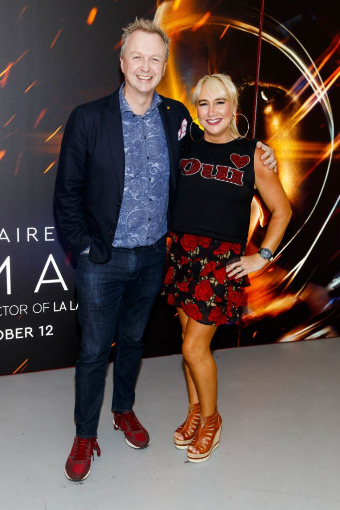 Matt Cooper and Aileen Hickie pictured at an exclusive first look at up-coming feature film First Man at Dublin's Light House Cinema. Picture Andres Poveda