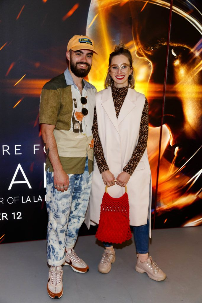 Jack McCabe and Niamh O'Donoghue pictured at an exclusive first look at up-coming feature film First Man at Dublin's Light House Cinema. Picture Andres Poveda