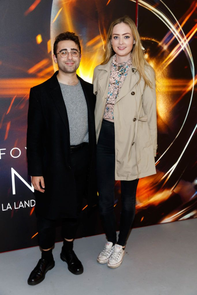 Conor Merriman and Aoife McCormack pictured at an exclusive first look at up-coming feature film First Man at Dublin's Light House Cinema. Picture Andres Poveda