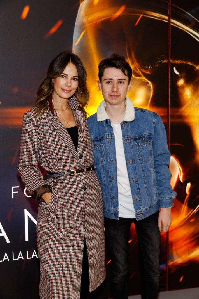 Carol Byrne and son Conor pictured at an exclusive first look at up-coming feature film First Man at Dublin's Light House Cinema. Picture Andres Poveda