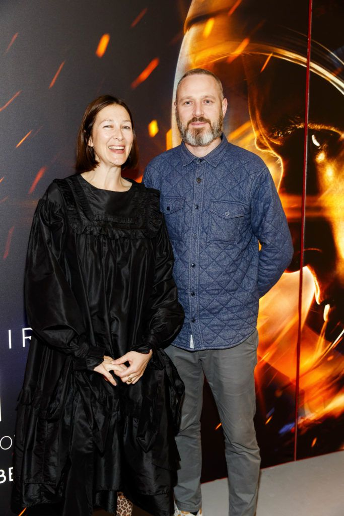 Natalie B Coleman and John Paul Dowling pictured at an exclusive first look at up-coming feature film First Man at Dublin's Light House Cinema. Picture Andres Poveda