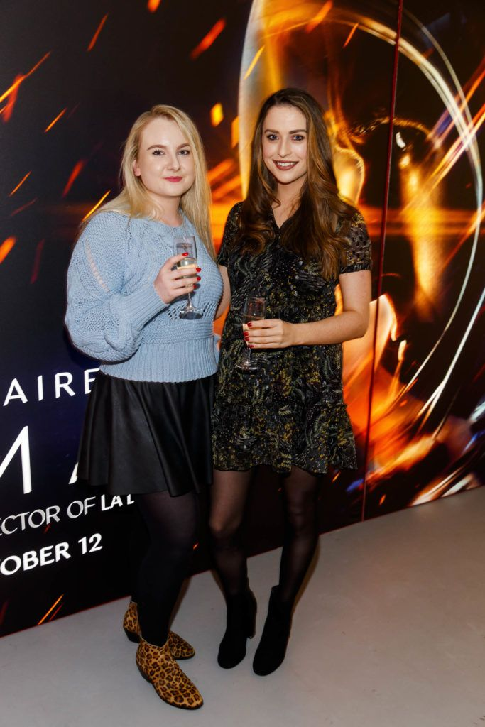Victoria Stokes and Niamh Devereux pictured at an exclusive first look at up-coming feature film First Man at Dublin's Light House Cinema. Picture Andres Poveda
