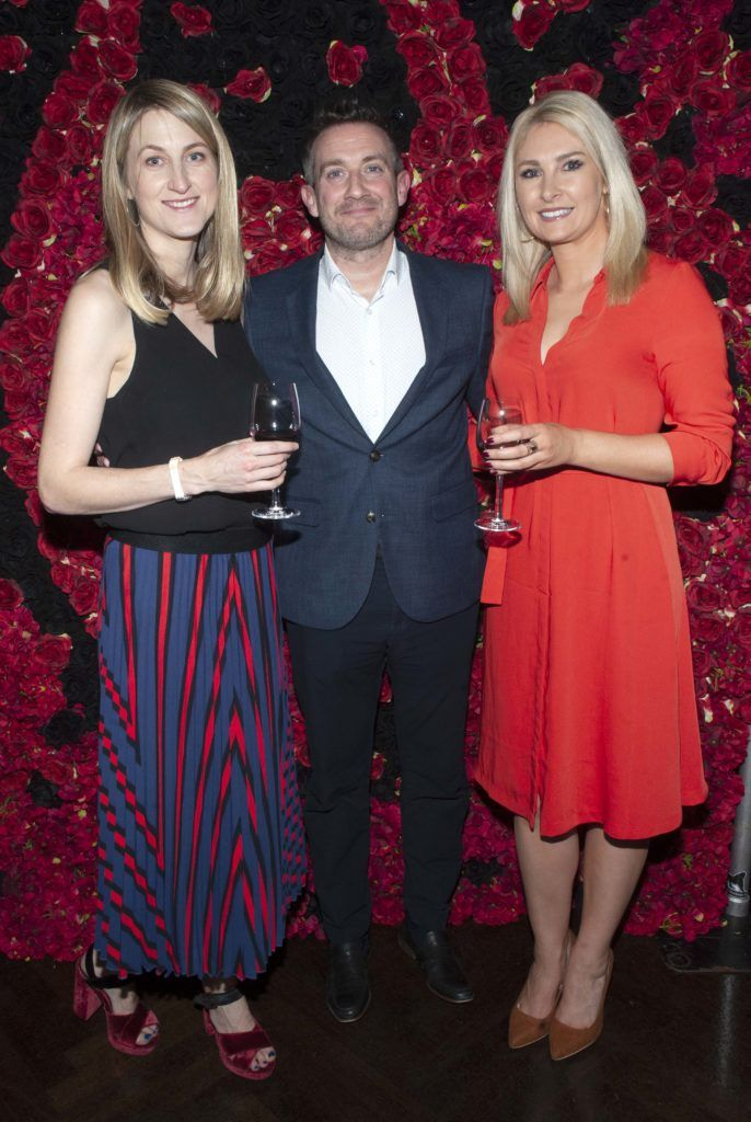 Ann Marie Nagle, Jonny Callan and Jessica Byrne pictured at the Diablo wine launch in Dublin's The Black Door. Photo: Patrick O'Leary