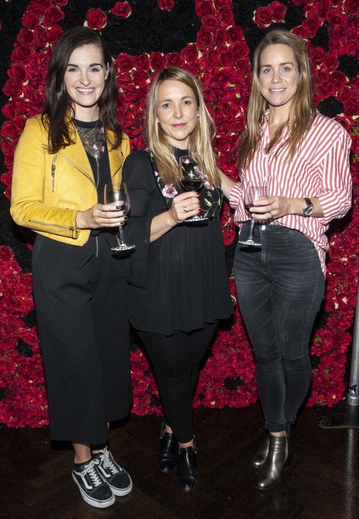 Jacqueline Lamb, Aoife Hofler and Vanessa Kiely pictured at the Diablo wine launch in Dublin's The Black Door. Photo: Patrick O'Leary