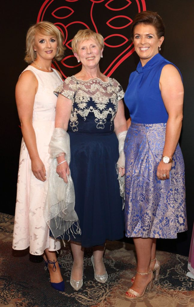 Deirdre Byrne, Irene Byrne and Collette Muldoon at the Shiseido International Charity Lunch and Fashion Show in aid of the Rape Crisis Centre hosted by catwalk queen Miss Candy at the Westin Hotel, Dublin. Pic Brian McEvoy Photography