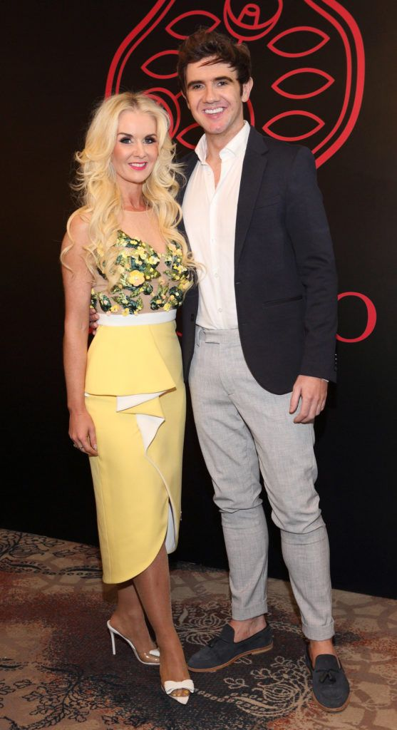 Aisling Holly and Niall Holly at the Shiseido International Charity Lunch and Fashion Show in aid of the Rape Crisis Centre hosted by catwalk queen Miss Candy at the Westin Hotel, Dublin. Pic Brian McEvoy Photography