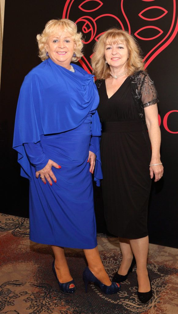 Masie Costelloe and Ellen Higgins at the Shiseido International Charity Lunch and Fashion Show in aid of the Rape Crisis Centre hosted by catwalk queen Miss Candy at the Westin Hotel, Dublin. Pic Brian McEvoy Photography