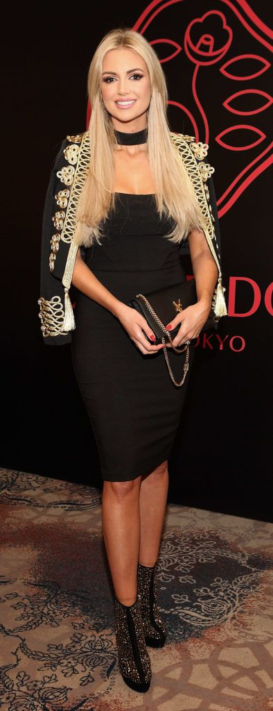 Rosanna Davison at the Shiseido International Charity Lunch and Fashion Show in aid of the Rape Crisis Centre hosted by catwalk queen Miss Candy at the Westin Hotel, Dublin. Pic Brian McEvoy Photography
