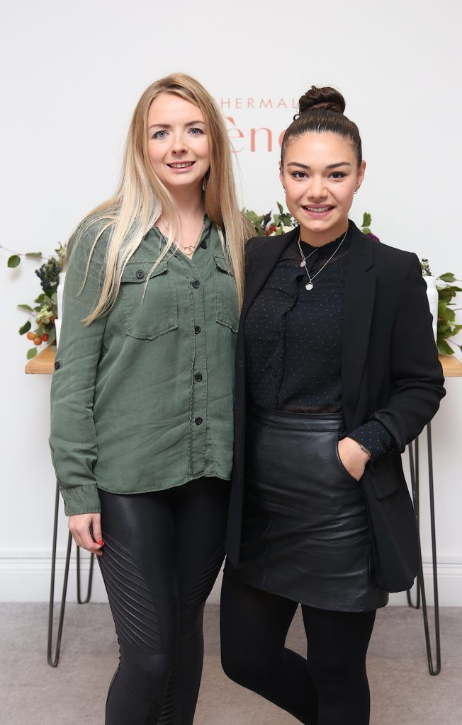 Soraiya Ryan and Jessica Fagan pictured at the Avene Radiance Skincare launch at Studio 10, Wicklow St (20/09/18). Photo: Karen Morgan