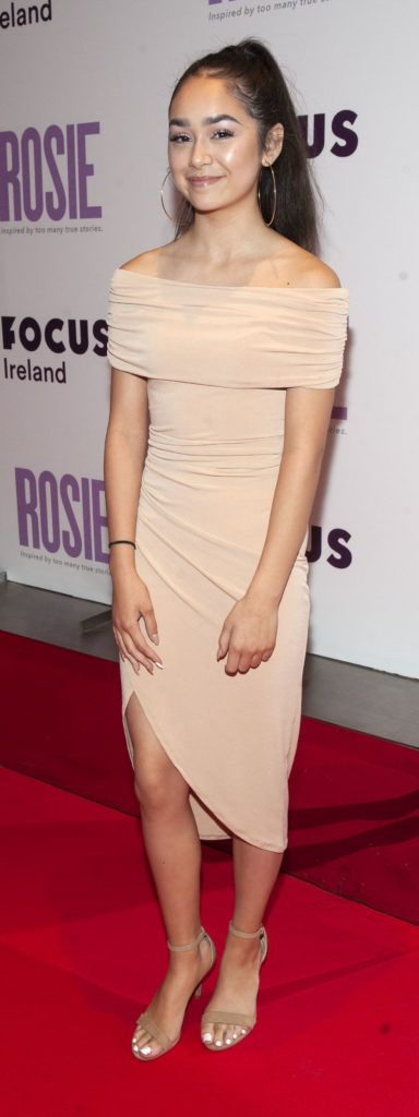 Ellie O'Halloran pictured at the European premiere of 'Rosie' at the Light House Cinema, Dublin. Photo: Patrick O'Leary